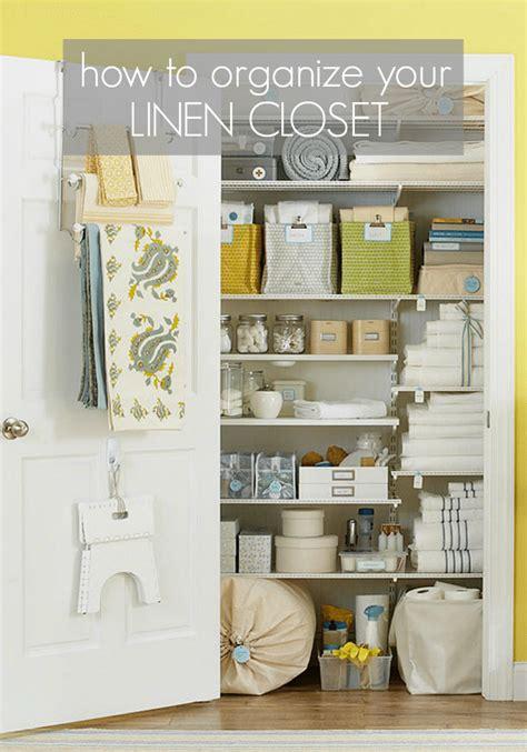 organizing  linen closet  simple