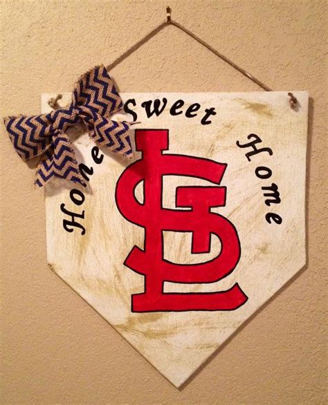 st louis cardinals est 1882 wall decor baseball home sweet home baseball home plate sign with arched