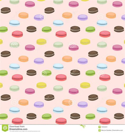 cute macaron pattern cute seamless pattern with macaroons vector background
