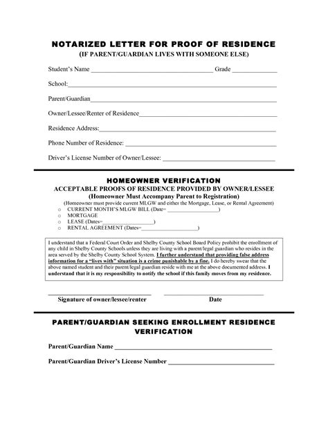 certification letter for proof of residence certificate of residence sle