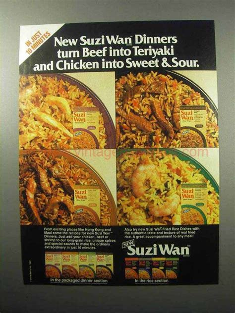 Turns Swag Into Sweet Charity by 1987 Ben S Suzi Wan Dinners Ad