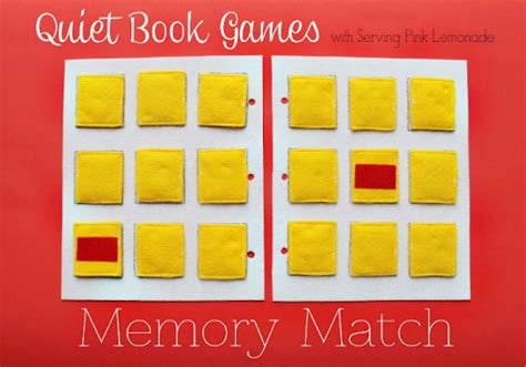 simple quiet book series memory match game u create