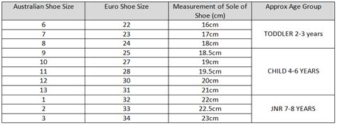 australian shoe sizes australian standard shoe size chart shoe sizes chart