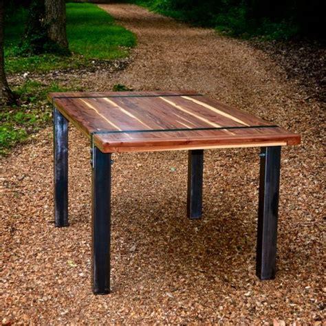 cedar dining room table cedar dining table with steel legs 27 designs