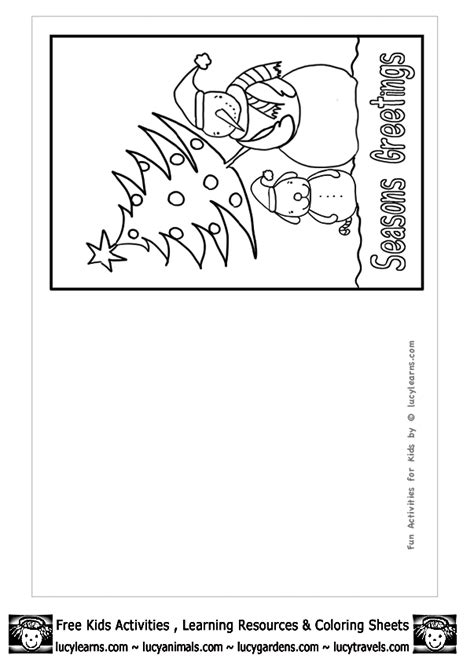 printable christmas cards that you can color christmas cards for kids to color free coloring pages on