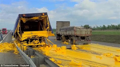 yellow paint sles russian truck driver left covered in thick yellow paint