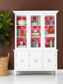 how to decorate a display cabinet update a used china cabinet hgtv