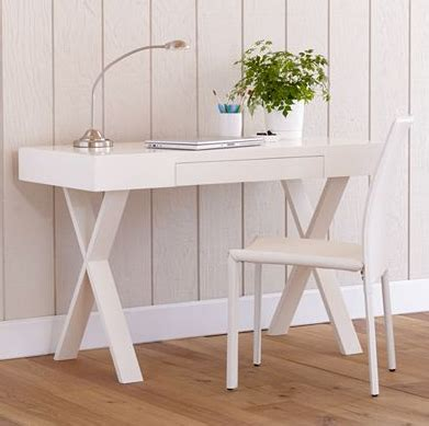Glossy White Sawhorse Desk Look 4 Less White Shiny Desk