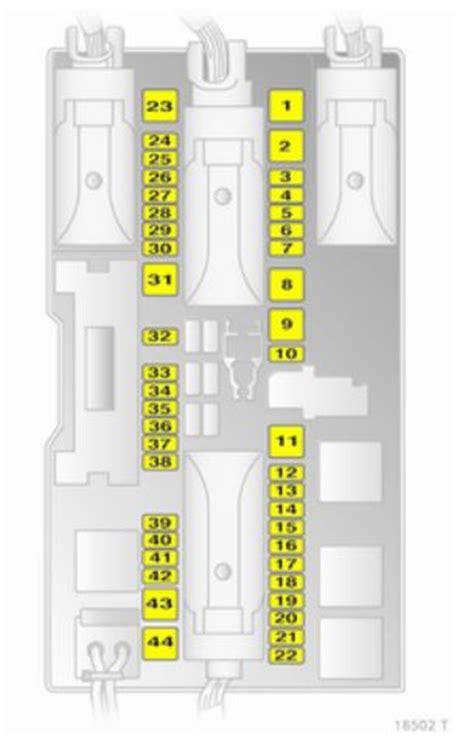 opel zafira b family form 2010 fuse box diagram auto