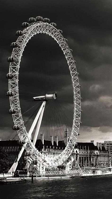 london eye black  white iphone   hd wallpaper