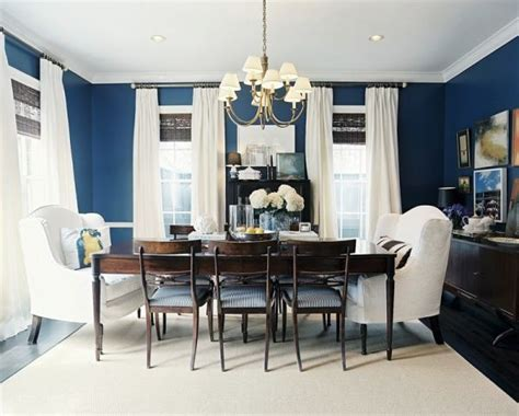 blue dining room ideas fab color combo navy and white