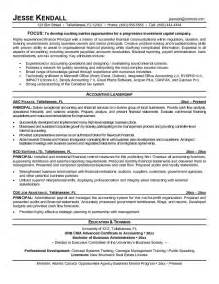 principal resume template exle finance principal resume free sle