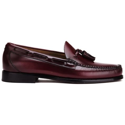 mens bass weejuns loafers bass weejuns s larkin moc leather tassel loafers
