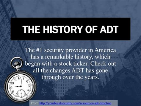 the history of adt
