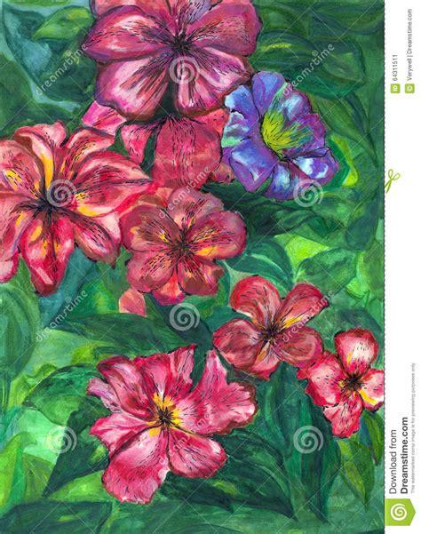 disegna il tuo giardino fiori giardino della pittura dell acquerello