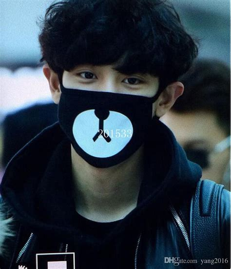 kpop exo chanyeol nose mask three layers cotton dust