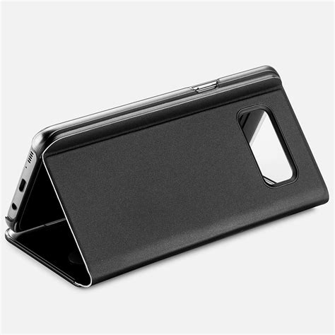 Samsung Galaxy S8 Plus Mirror Stand Flip Cover Casing Bumper Kuat for samsung galaxy note8 s8 plus clear view mirror