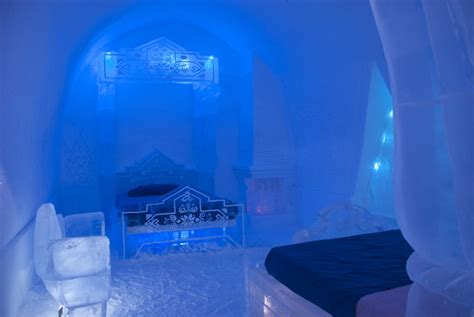 ice bedroom suite the frozen suite at h 244 tel de glace the ice castle in