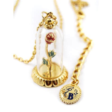 Beauty and the Beast Rose Necklace by Disney Couture
