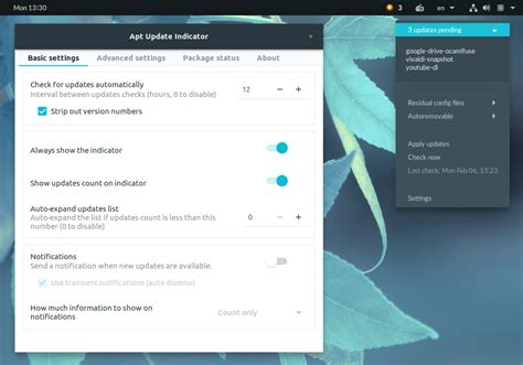 ubuntu manually check for updates apt update indicator for gnome shell keeps you informed