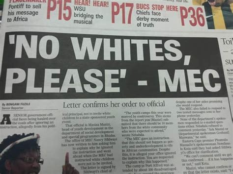 white genocide in south africa here are the names racist mec sihlwayi exposes anc s racial nationalism no