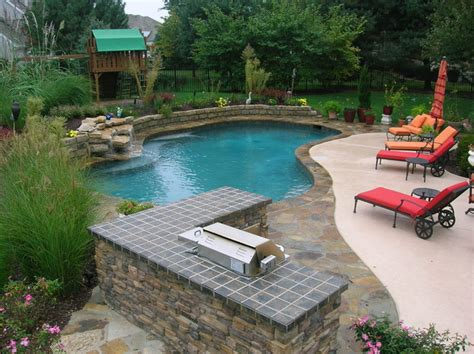 Backyard Living Pools Backyard Living Traditional Pool Kansas City By Banks Pool Spa Design