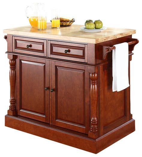 buy crosley furniture butcher block top kitchen island crosley furniture 48x23 butcher block top kitchen island