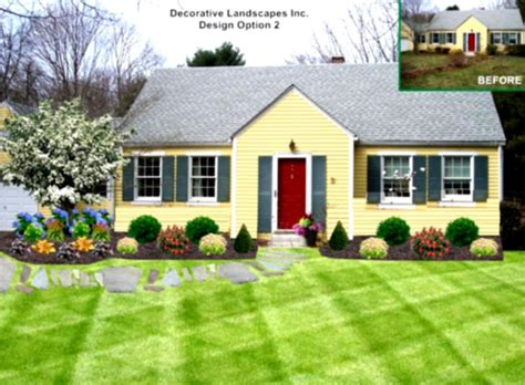 Garden Ideas Front Of House Low Maintenance Landscaping Ideas Ranch Home The Garden Inspirations For Front Yard House Colors