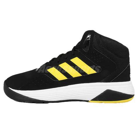 adidas cloudfoam ilation mid black yellow white mens