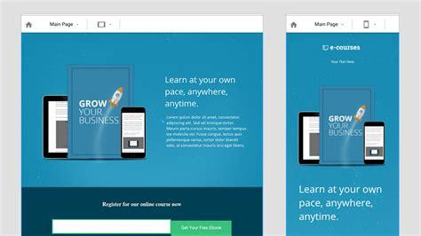 mobile landing page builder wishpond landing page builder create beautiful landing pages