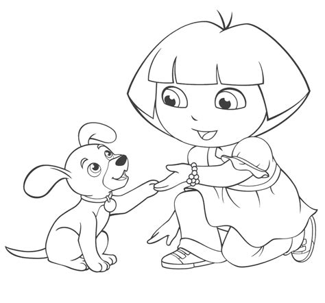 thinking pages dora coloring pages