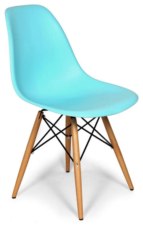Molded Plastic Dining Chairs Molded Plastic Dowel Dining Chair Blue Midcentury Dining Chairs By Mid Mod