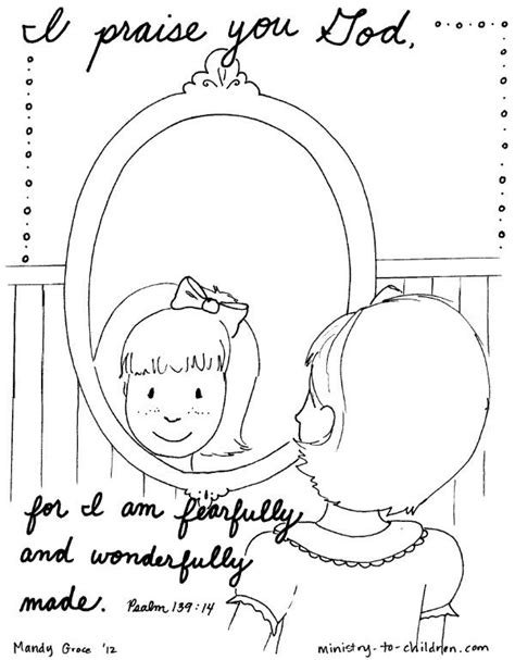 psalm 139 coloring page i praise you for i am fearfully