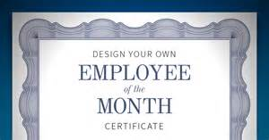 employee of the month certificate when i work