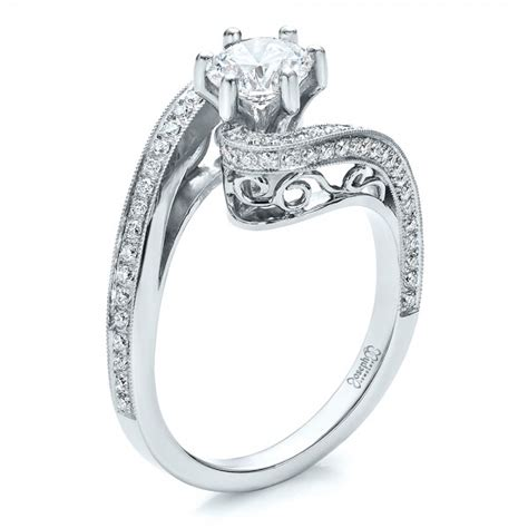 custom and filigree engagement ring 100129