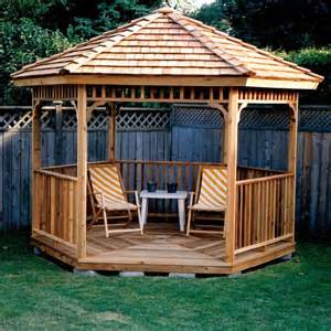 Yard Gazebo by Hexagon Cedar Gazebo Kit 8ft W86