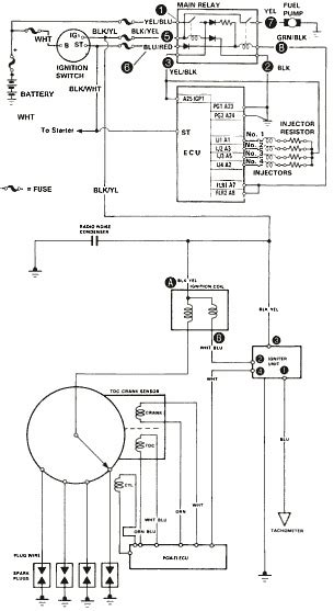 honda crx ignition schematic honda free engine image for
