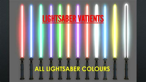 all lightsaber colours and meanings wars