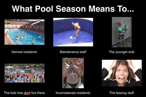 property management pool season meme so very true lol