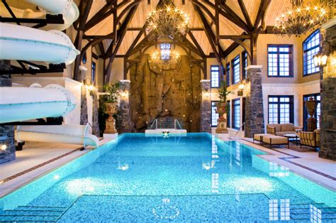 indoor pool and slides picture of chateau des ormes rennes amazing 3 story indoor swimming pool with water slide