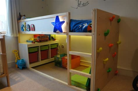 Kid Bedroom Ideas by Kid Friendly Diys Featuring The Ikea Kura Bed