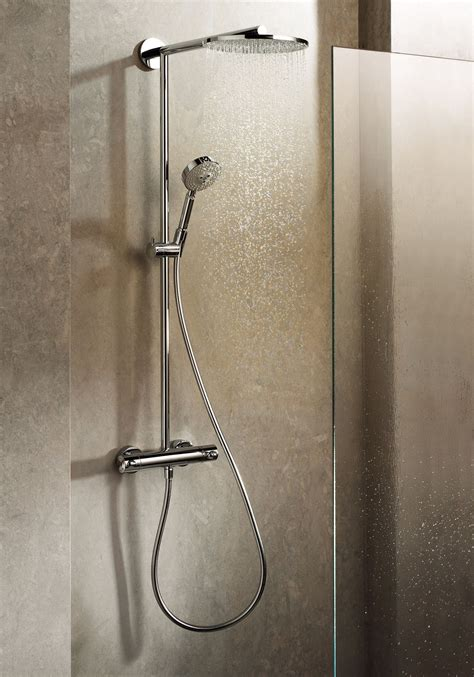 hansgrohe shower system in a bathroom setting the actual