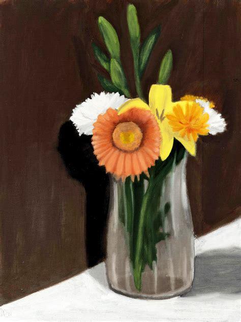 Paintings Of Flowers In Vases Flower Vase Painting The Sweet Breath Of Zephirus