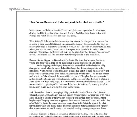 Romeo And Juliet Essay On Fate by Romeo And Juliet Fate Essay Topics Docoments Ojazlink