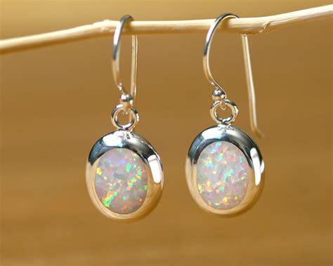 Wedding Anniversary Gift Opal by Opal Earrings Drop Earrings Earrings Birthday Gift