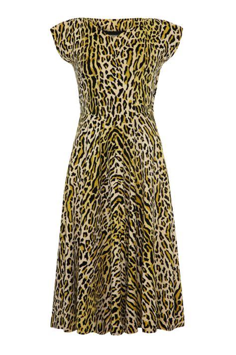 Id Print Dress 1950 s animal print velvet dress at 1stdibs