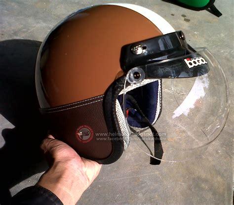 Helm Bogo Vespa By Mona Helm by Helm Vespa Bogo Ksct Coklat Garis Putih Helm Vespa