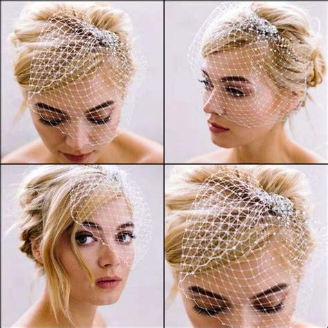 wedding hair using nets sara gabriel bridal headpieces hair accessories short