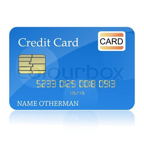 debit card background template illustration of credit card on isolated background stock