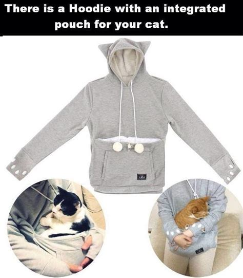 Sling Bag Cutie Grey Cat jacket cat pouch grey sweater cats animal cats